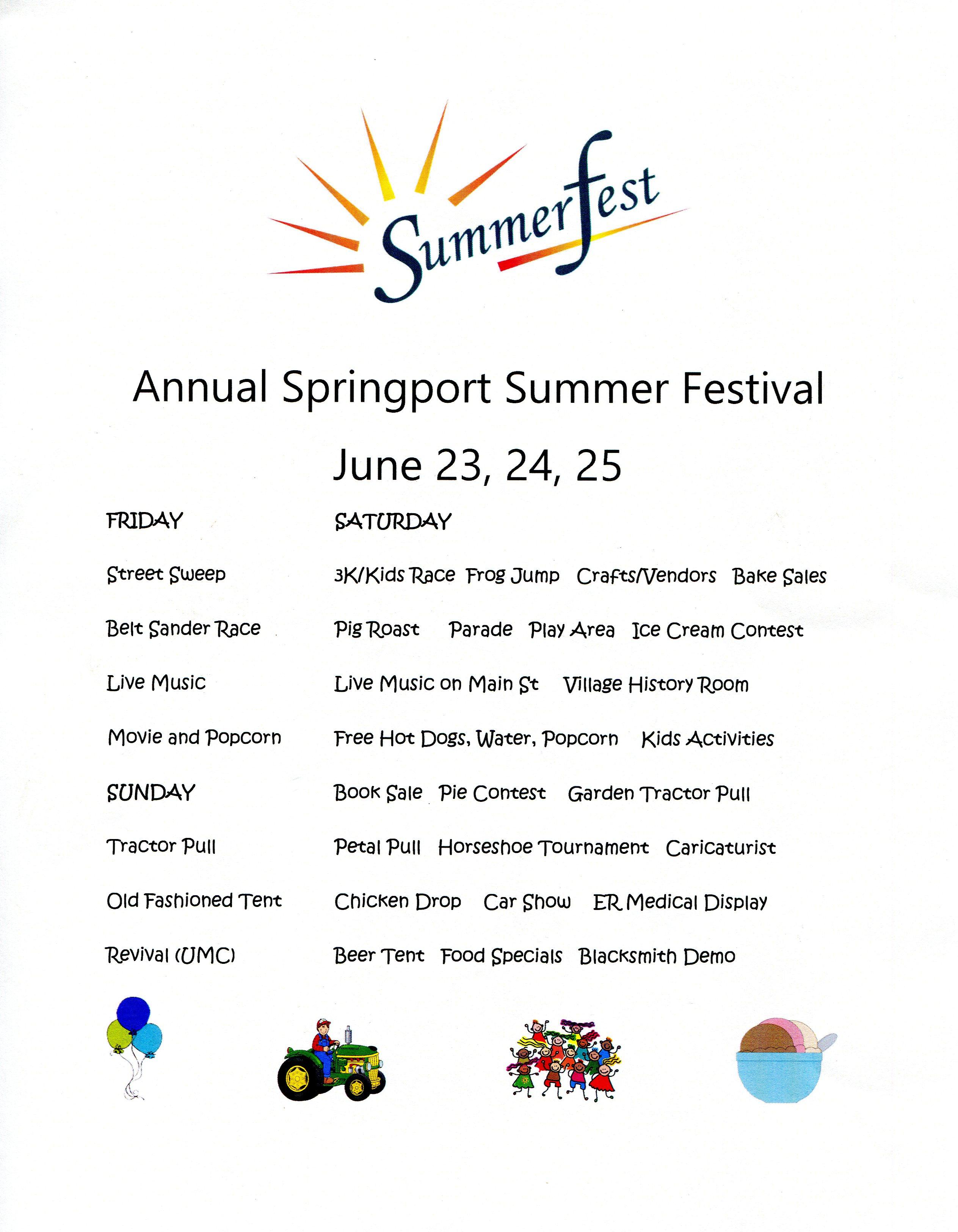 summerfest schedule